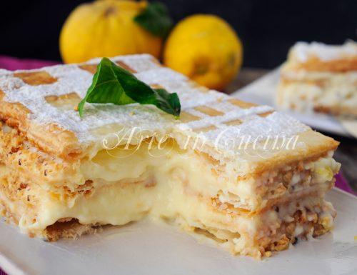 Millefoglie alla crema pasticcera al limone