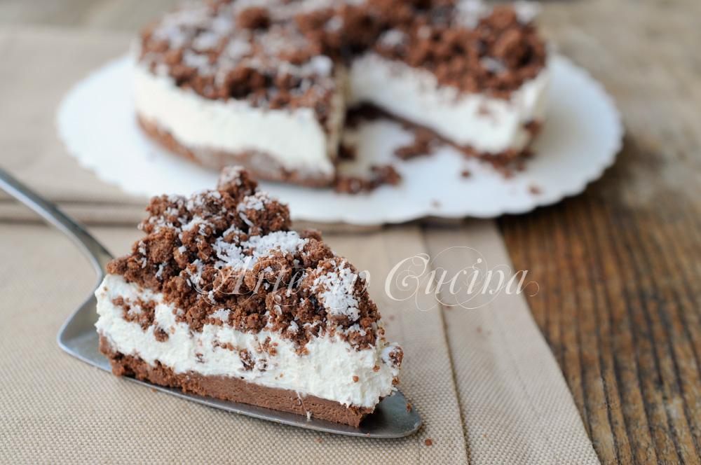 Sbriciolata cocco e ricotta al cacao torta fredda arte for Cucina facile ricette