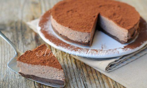 Torta africana fredda dolce veloce senza forno