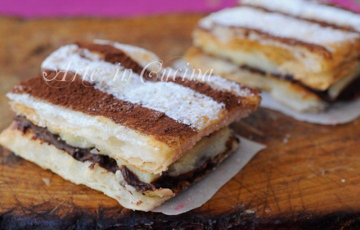 Tortine millefoglie mascarpone e cioccolato