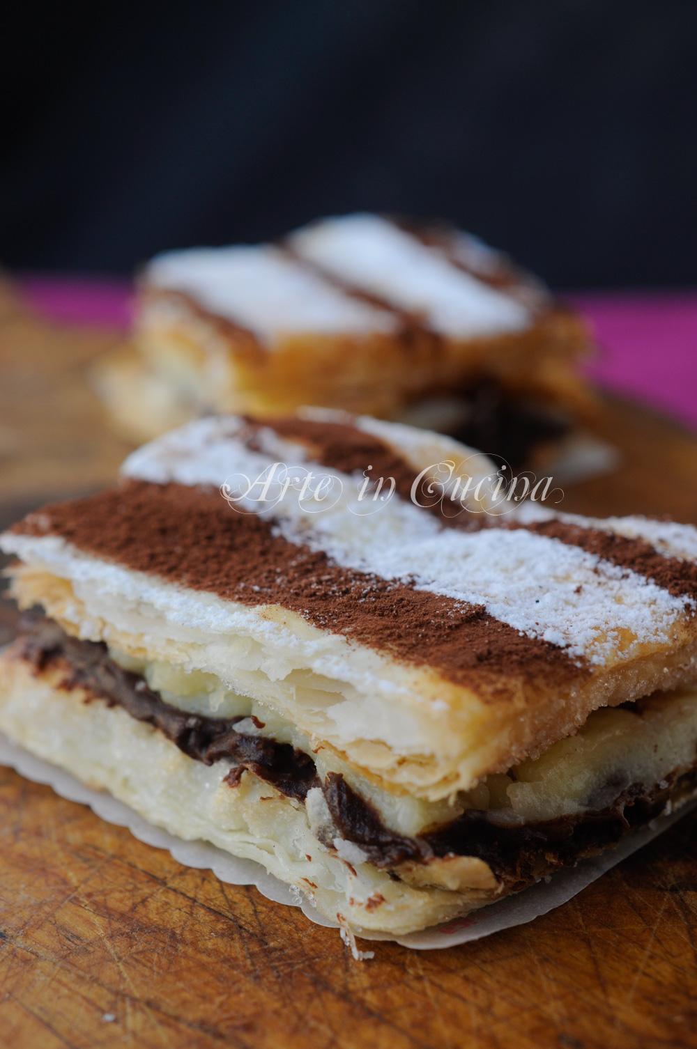 Tortine millefoglie mascarpone e cioccolato vickyart arte in cucina