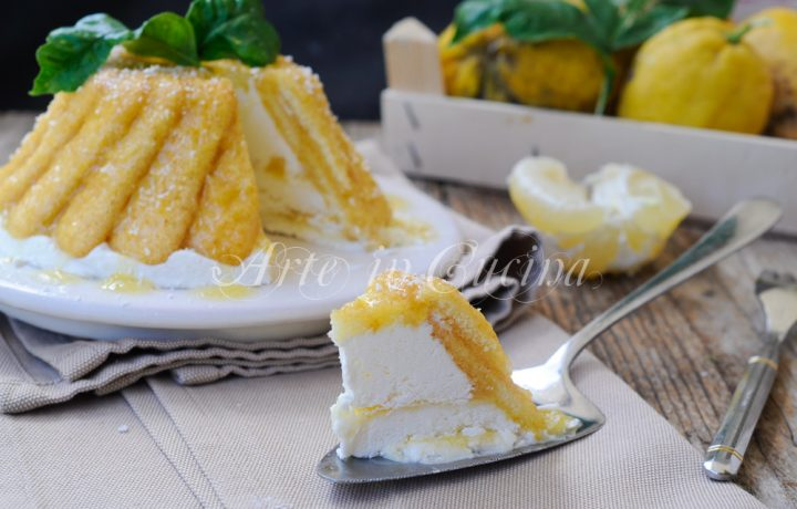 Zuccotto al cocco e limone freddo con pavesini