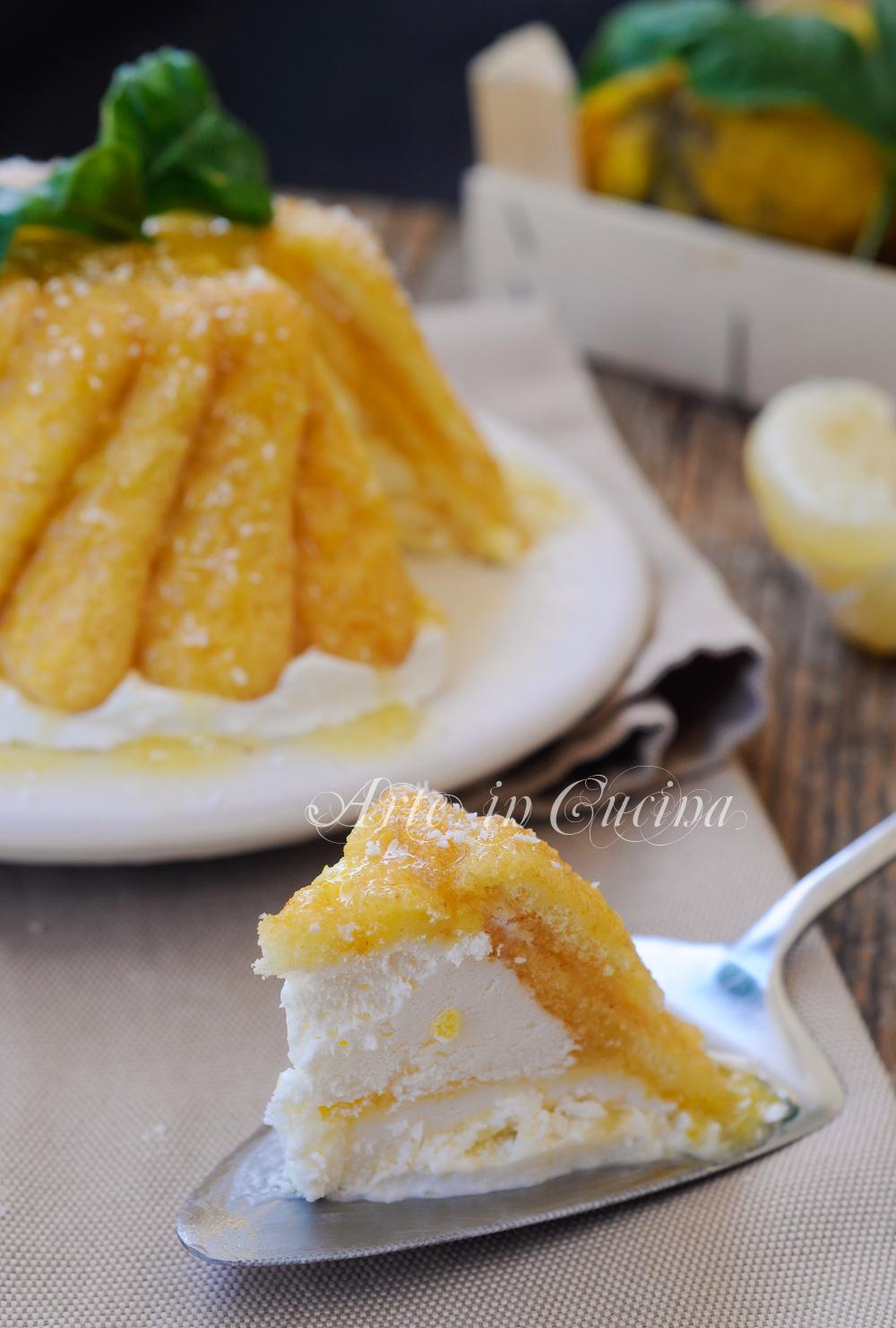 Zuccotto al cocco e limone freddo con pavesini vickyart arte in cucina