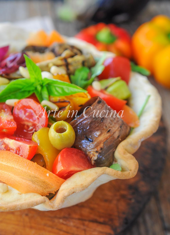 Cestini di piadina con insalata e verdure ricetta leggera vickyart arte in cucina
