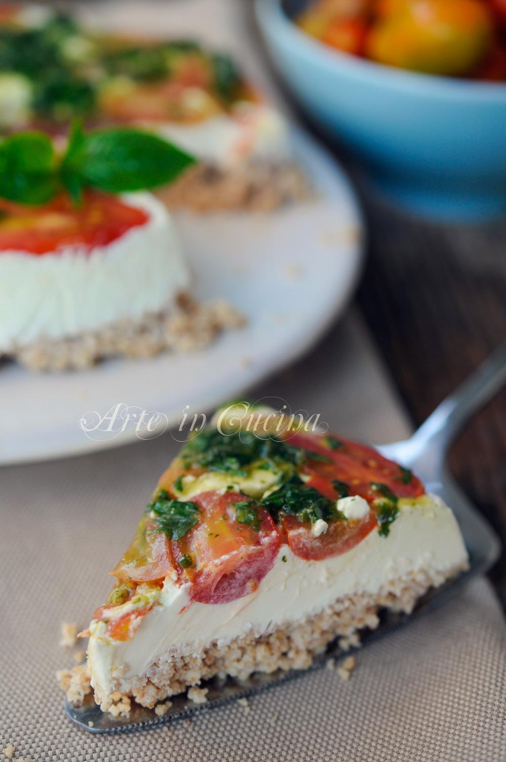Cheesecake salata senza cottura ricetta veloce vickyart arte in cucina