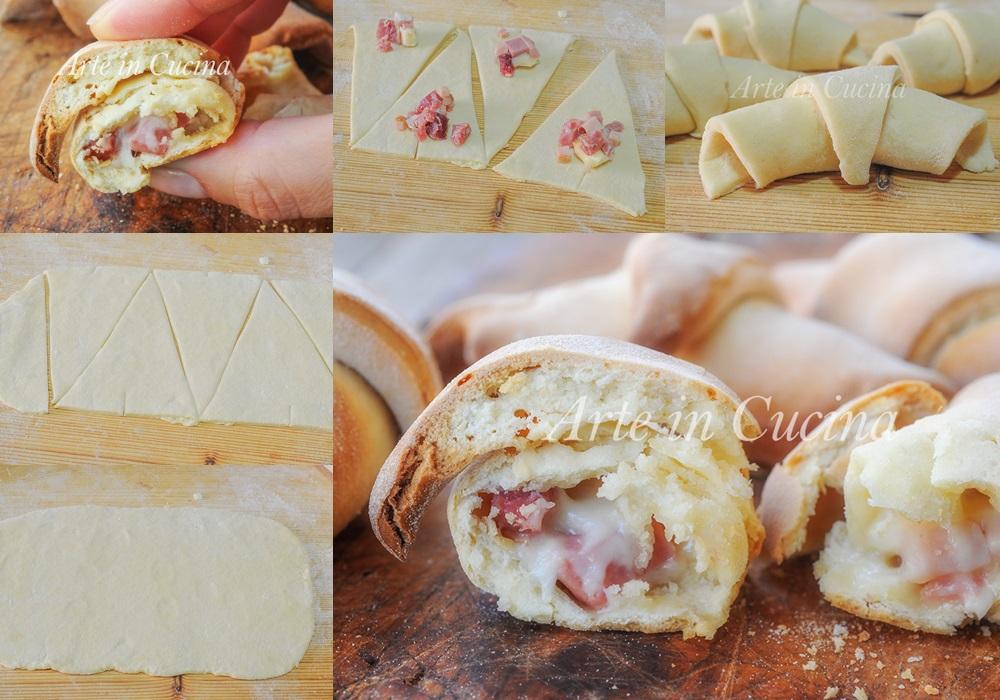 Cornetti veloci alla ricotta con formaggi e salumi vickyart arte in cucina
