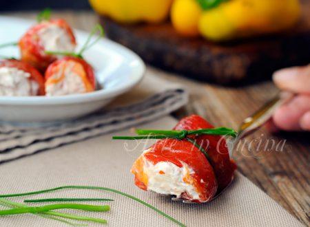 Involtini di peperoni tonno e robiola ricetta facile