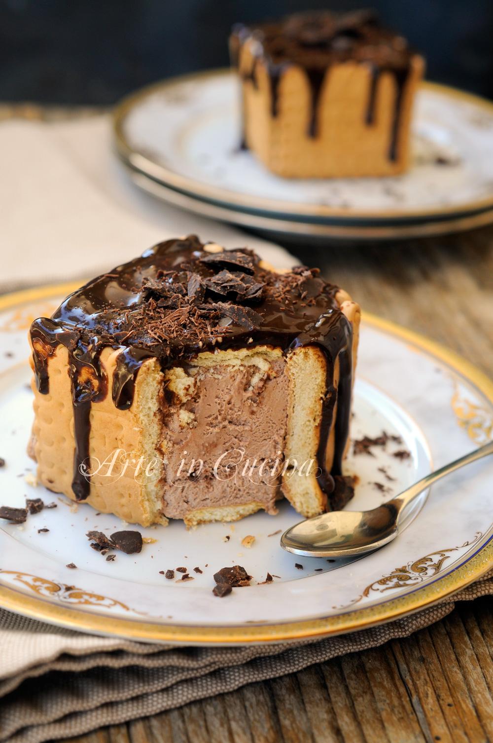 Mini charlotte al cioccolato ricetta sfiziosa vickyart arte in cucina