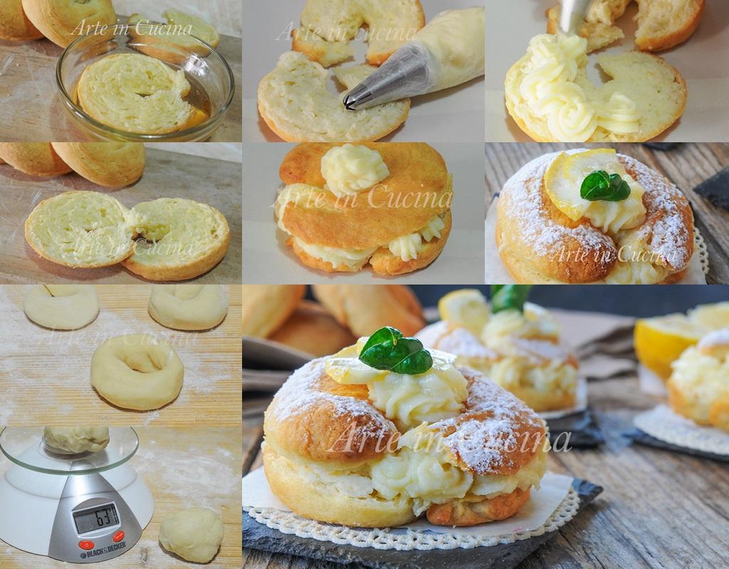 Savarin al limone ricetta dolce alla crema vickyart arte in cucina