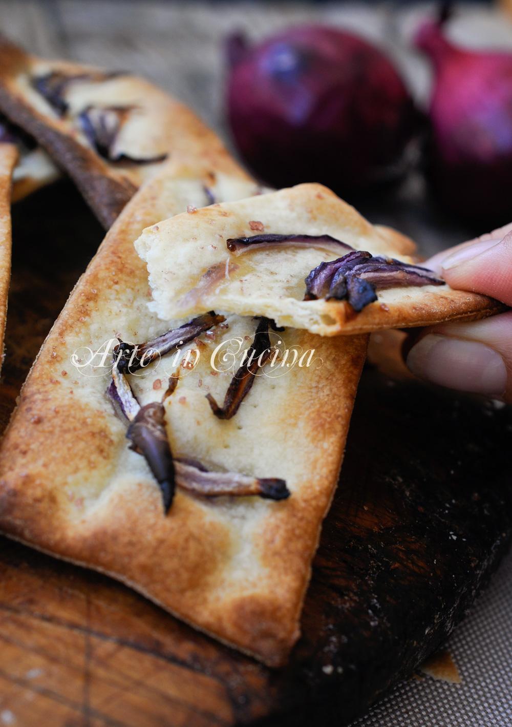 Sfogliatine alle cipolle ricetta veloce senza burro vickyart arte in cucina