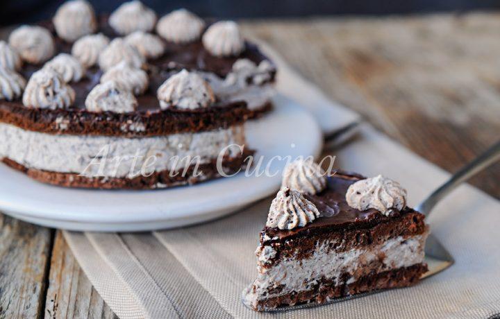 Torta fredda veloce e facile cioccolato e nutella
