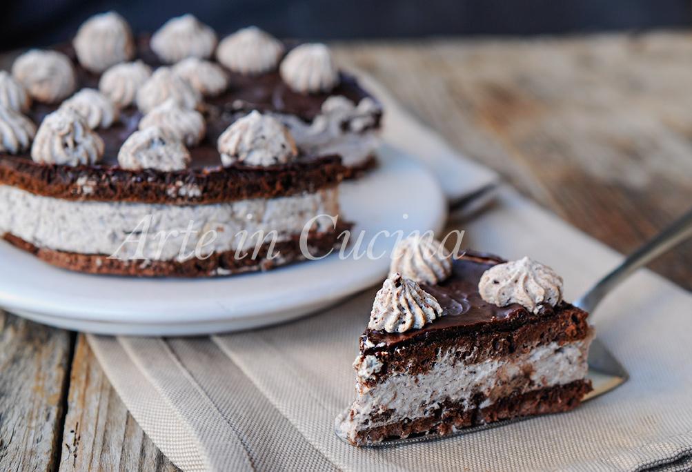 Torta fredda veloce e facile al cioccolato e nutella vickyart arte in cucina