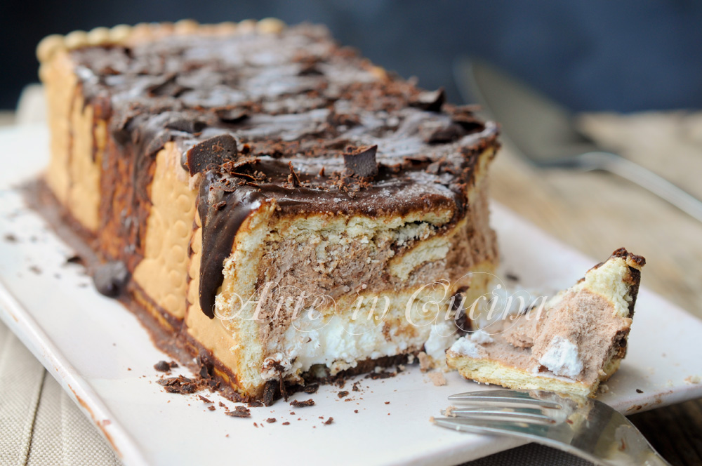 Torta Gelato Con Biscotti Vaniglia E Cioccolato