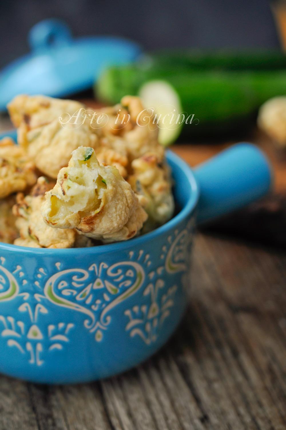 Zeppoline con zucchine ricetta veloce e facile vickyart arte in cucina