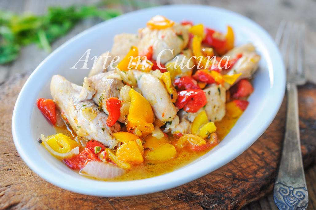 Bocconcini di tacchino alla spagnola con verdure