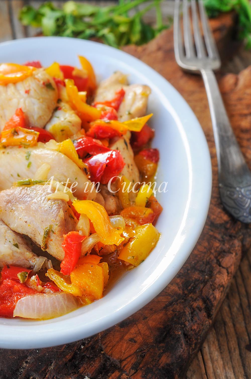 Bocconcini di tacchino alla spagnola con verdure vickyart arte in cucina