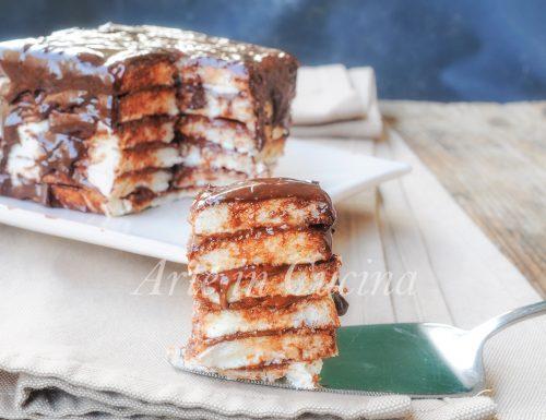 Mattonella di pancarrè nutella ricotta e cioccolato