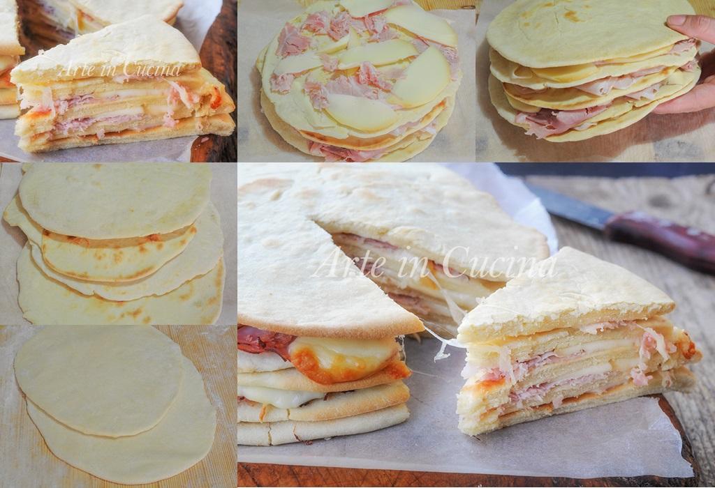 Millefoglie di piadine torta salata sfiziosa vickyart arte in cucina