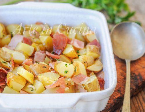 Patatine novelle con prosciutto al forno ricetta facile