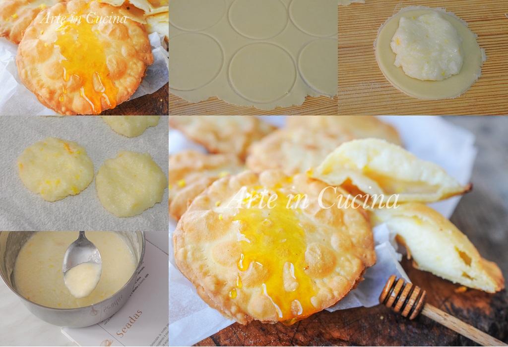 Seadas o sebadas dolci sardi ricetta tipica vickyart arte in cucina