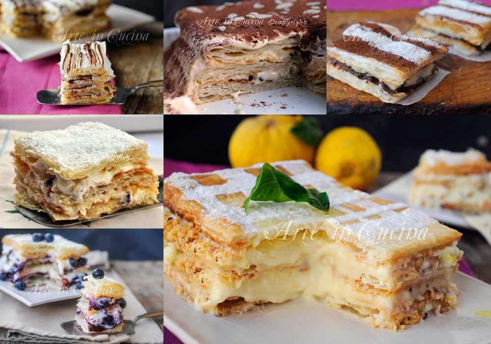 Torte millefoglie ricette dolci facili e veloci arte in for Ricette facili di cucina