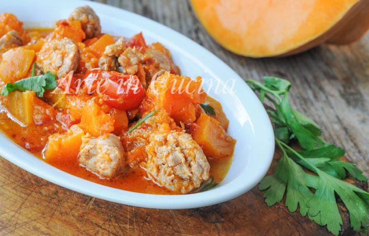 Zucca con salsiccia in padella ricetta veloce