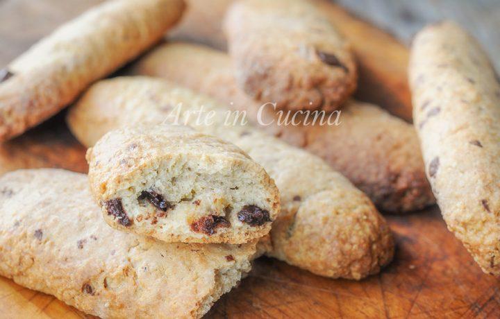 Biscotti caffè e cioccolato dolce da colazione
