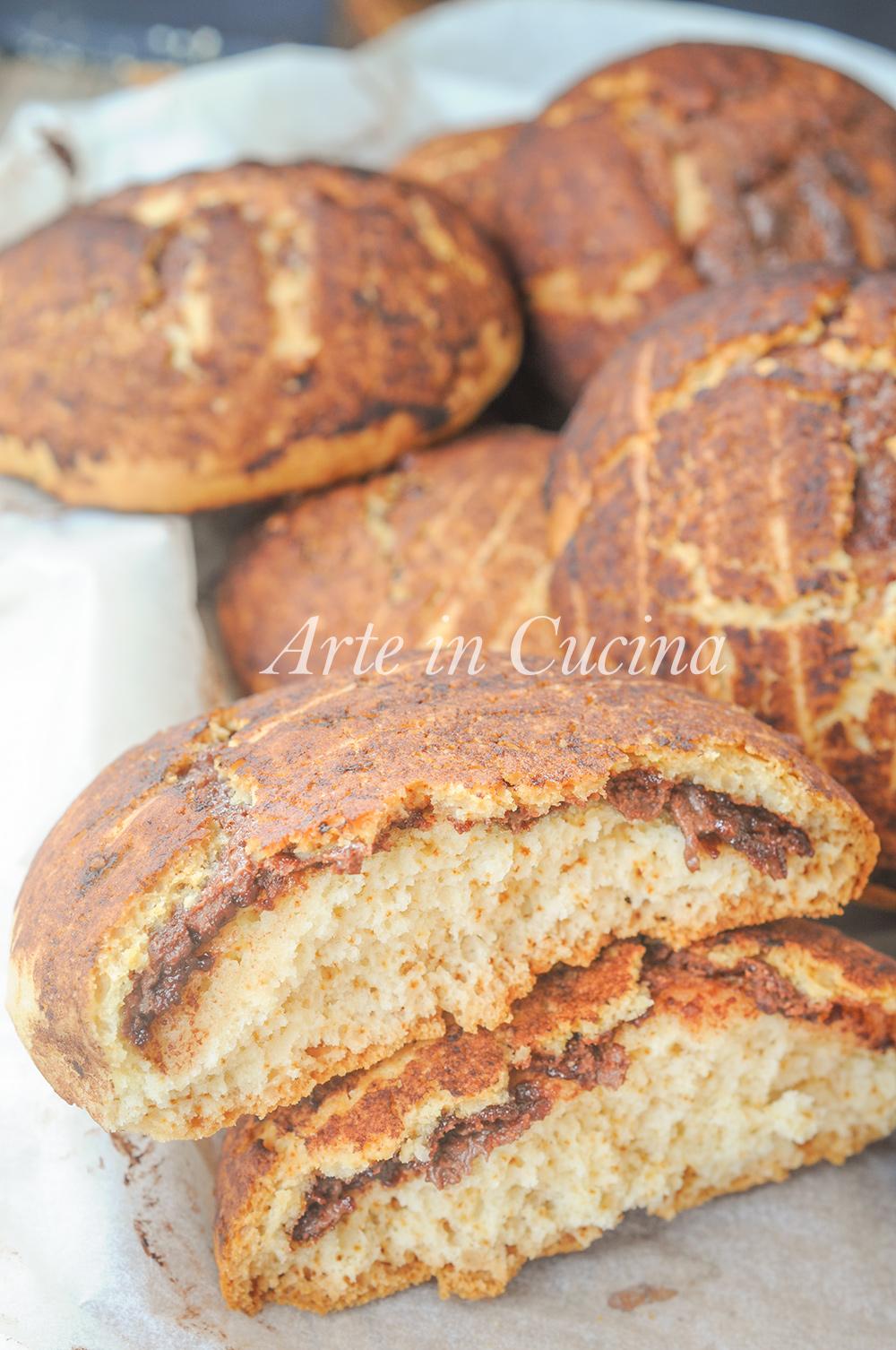 Gallette dolci morbide ripiene di nutella ricetta facile vickyart arte in cucina
