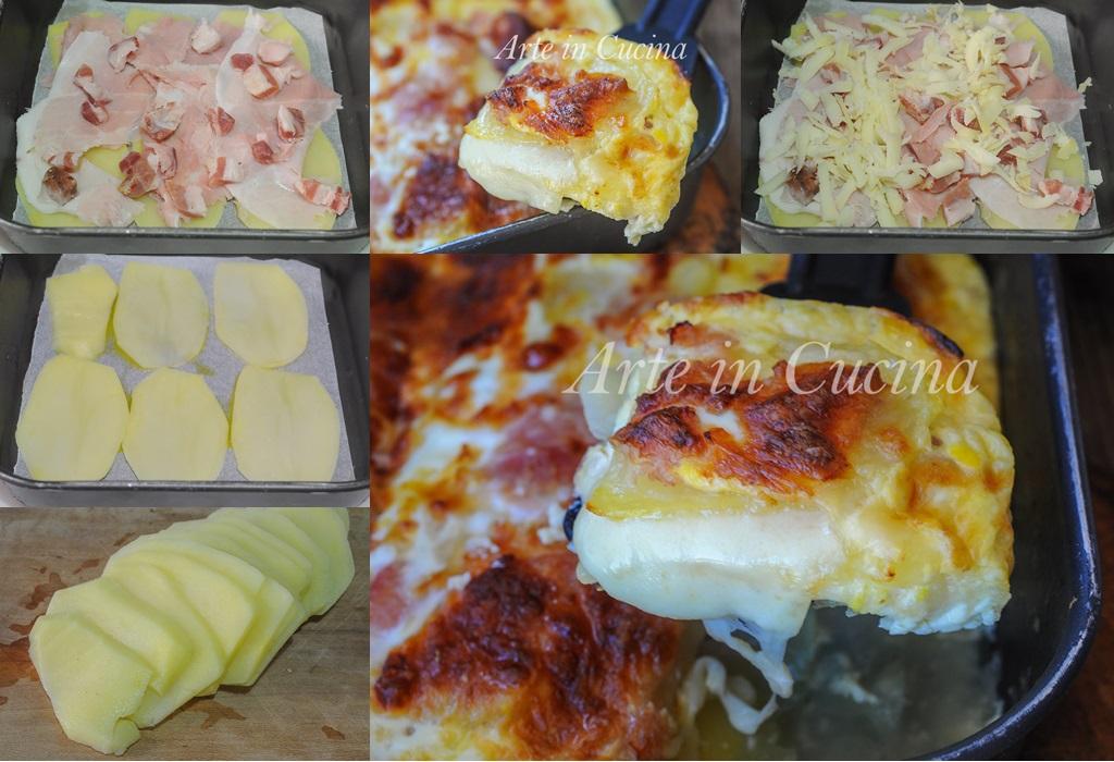 Lasagna di patate e prosciutto con crema al latte vickyart arte in cucina