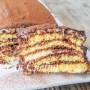 Mattonella di pasta biscotto nutella e cioccolato vickyart arte in cucina