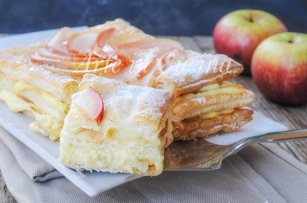Millefoglie con mele caramellate e crema pasticcera vickyart arte in cucina