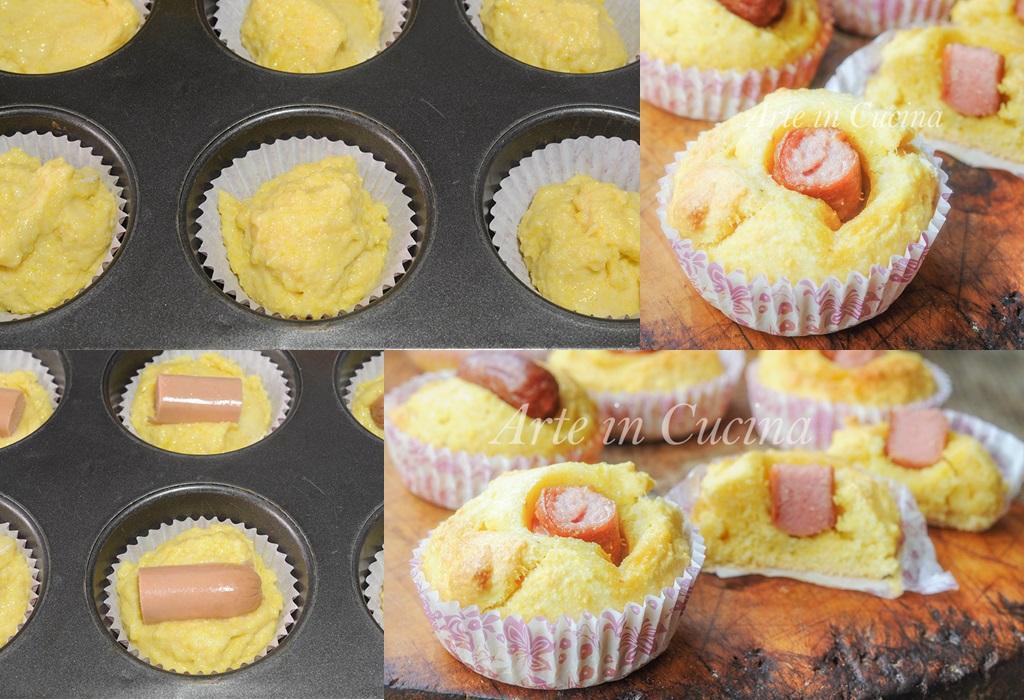 Muffin corn dogs ricetta sfiziosa finger food vickyart arte in cucina