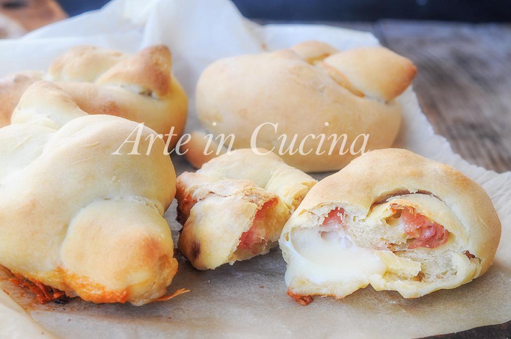 Nodini salati al formaggio e prosciutto ricetta veloce vickyart arte in cucina