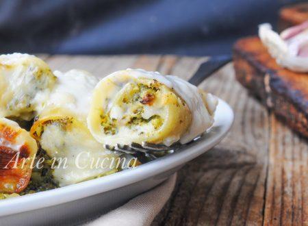 Paccheri ripieni con broccoli e salsiccia