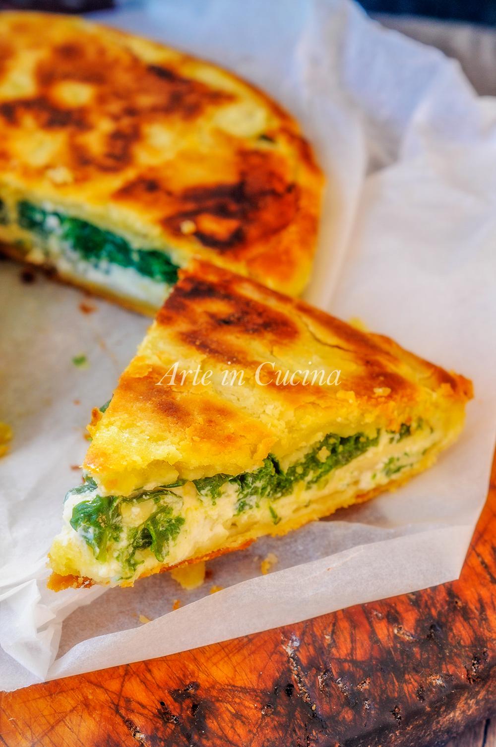 Pizza rustica spinaci e ricotta ricetta veloce vickyart arte in cucina
