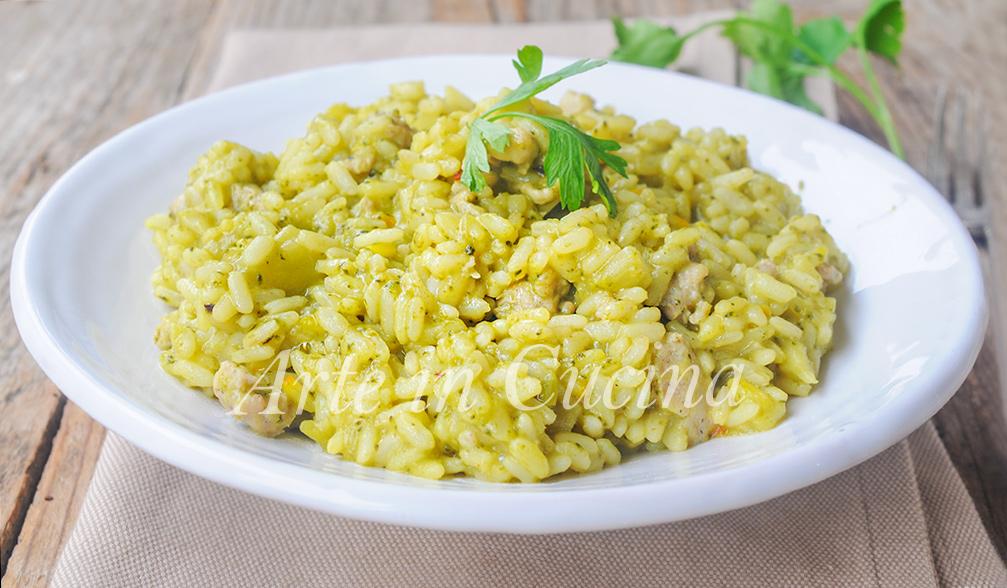Risotto con broccoli e salsiccia ricetta facile arte in for Ricette risotti veloci