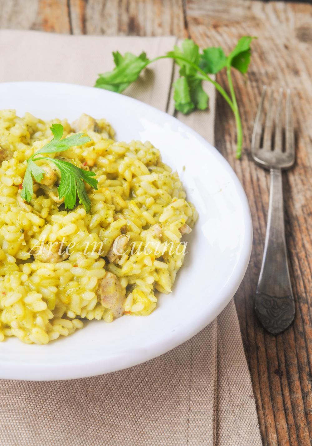 Risotto con broccoli e salsiccia cremoso ricetta facile vickyart arte in cucina