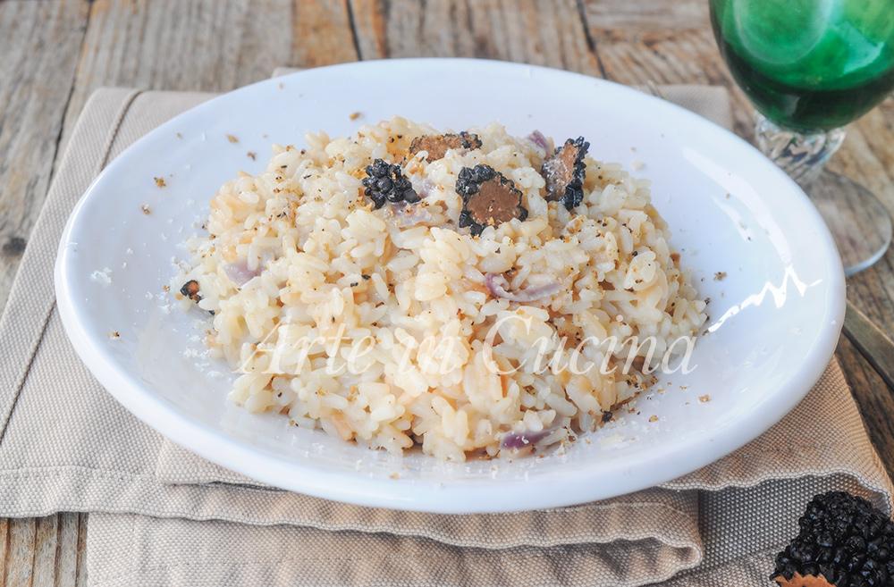 Risotto al tartufo nero estivo ricetta facile vickyart arte in cucina