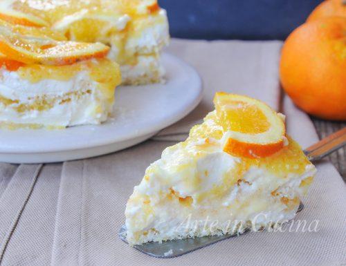 Semifreddo all'arancia ricotta e panna veloce
