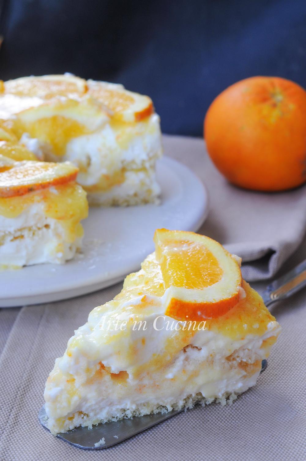 Semifreddo all'arancia ricotta e panna veloce vickyart arte in cucina