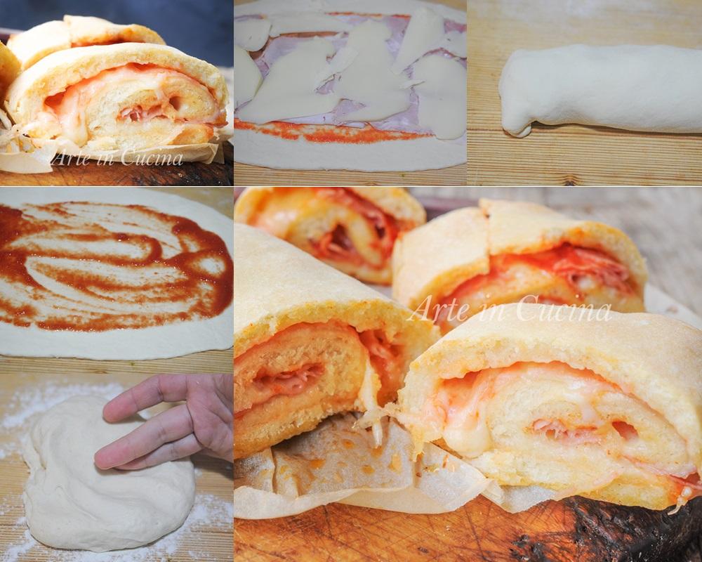 Stromboli pizza ripiena ricetta facile americana vickyart arte in cucina