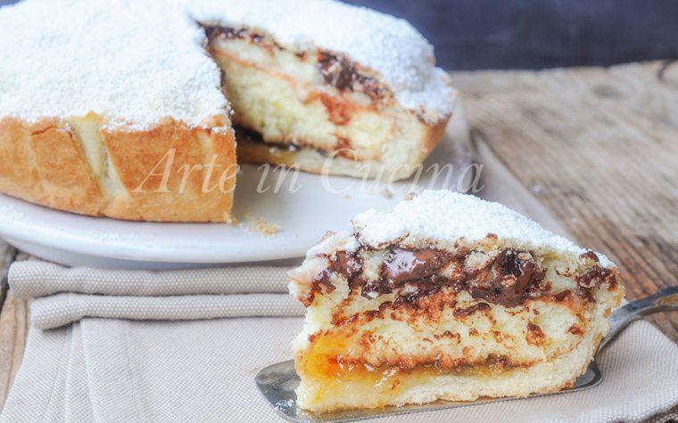 Torta monterossina ricetta dolce ripieno con crema