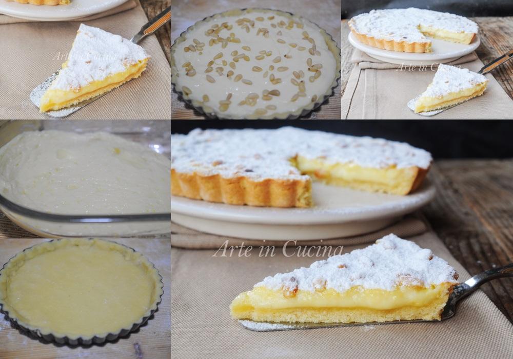 Torta della nonna aperta dolce facile e veloce vickyart arte in cucina