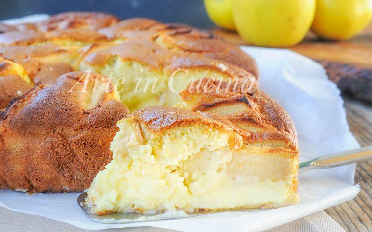 Torta nua alla crema pasticcera e mele ricetta dolce