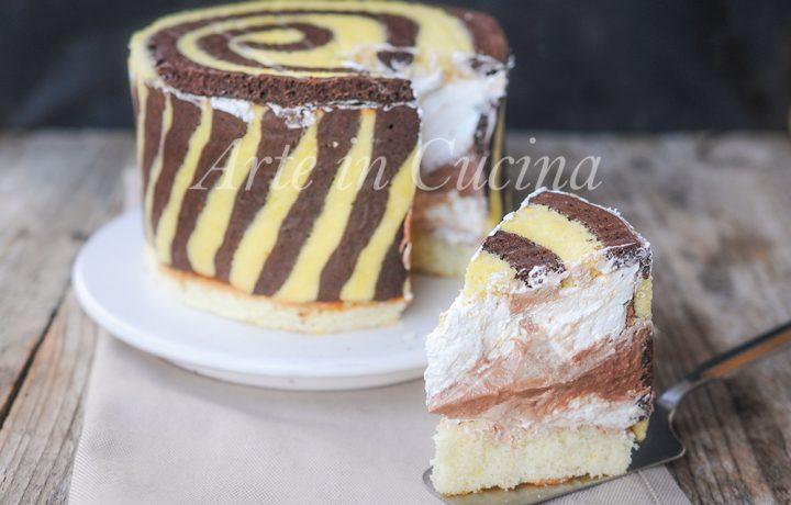 Torta twister al cioccolato e mascarpone