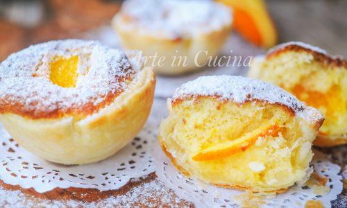 Tortine arancia e ricotta con guscio di sfoglia