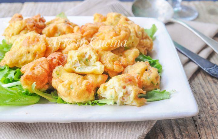 Bocconcini con gamberetti e pancetta veloci