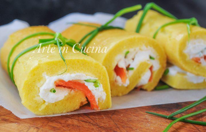 Cannoli salati rotolini salmone e robiola veloci