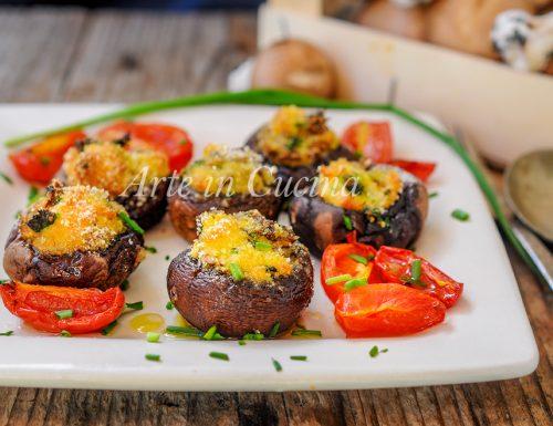 Funghi ripieni gratinati al forno ricetta veloce