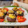 Funghi ripieni al forno ricetta facile e veloce vickyart arte in cucina